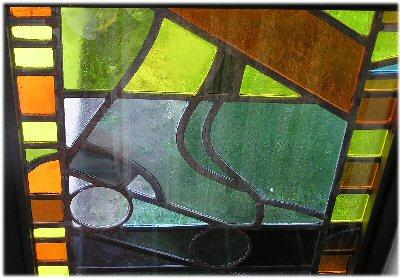 Picture of Roller Skate Stain Glass Window